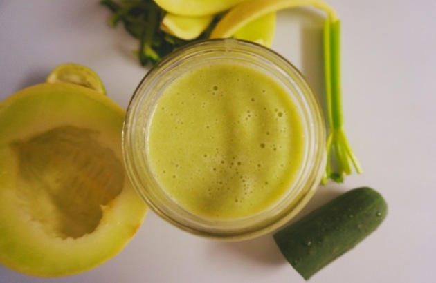 honeydew green smoothie2