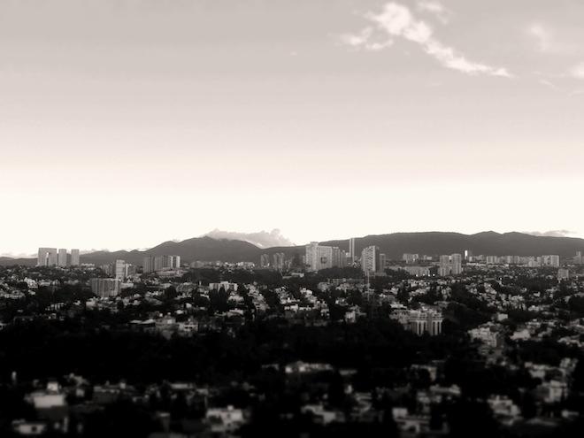 mexico city view bw