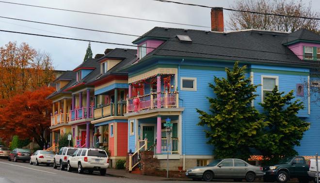 portland colorful houses