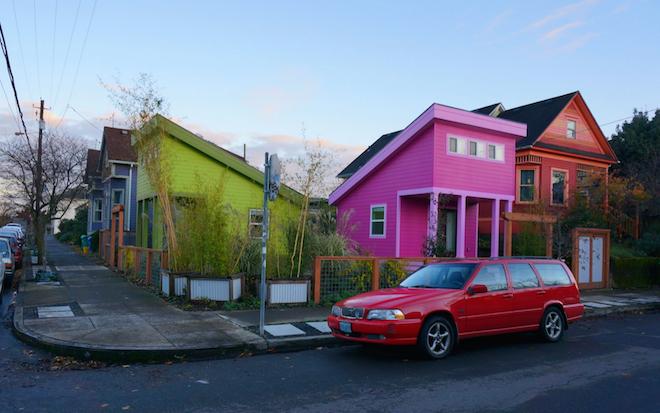 portland micro houses colorful