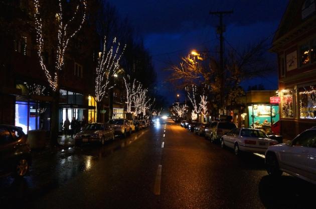 portland night christmas winter