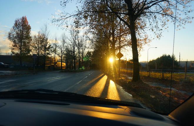 portland sunset road