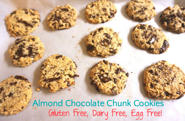 almond chocolate chunk cookies