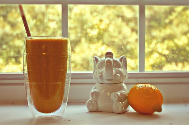 mango carrot ginger smoothie