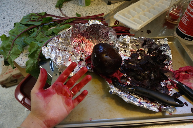 Crime scene or just roasted beets?